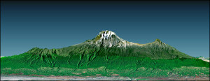 Kilimanjaro's drie pieken...