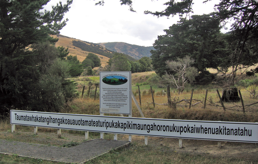 Longest place name in the world... (New Zealand)