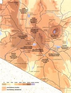 Centraal Hoogland met mount Kenia en de Aberdares...