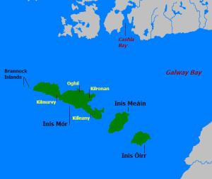 Map of the Aran islands...