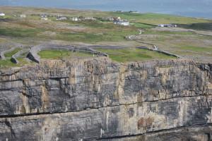 The high cliffs at Dun Aenghus...