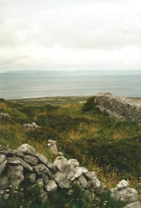 Looking down from Inishmore's highest point...