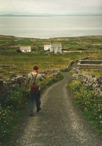 Walking over Inishmore...