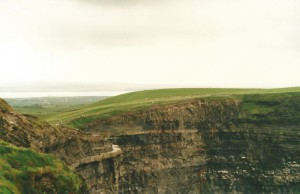 On top of the Cliffs of Moher...
