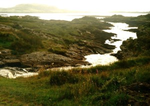 Rocky coast between Letterfrack and Clifden...