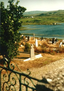 Cemetry on the border of a lough...