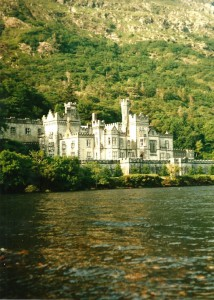 Kylemore Abbey at Pollacapall Lough...
