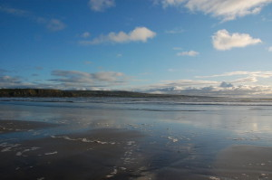 Quite flat coast at Lahinch...