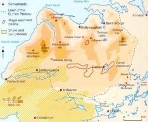 Map of The Burren region...