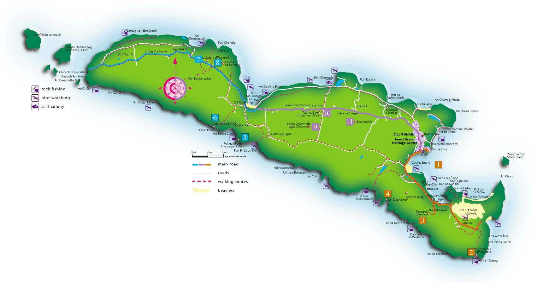 Map Of Inishmore Aran Islands