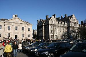 Trinity College on graduation day...