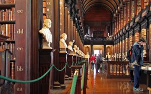 Interior of the Long Room of the Trinity College Library...