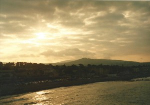 The Wicklow mountains  behind Bray...