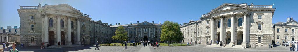 Parliament Square at Trinity College in Dublin...