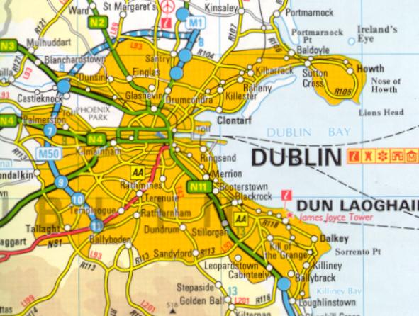 Maps Of Dublin Suburbs.5 Dublin And Surroundings Wandelgek Nl