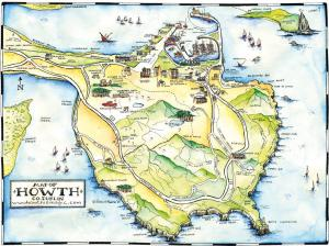 Map of Howth head