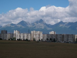 Industrial town of Poprad...