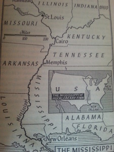 Map of the mighty Missisipi...