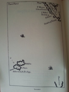 Lilliput and Blefuscu precisely pinpointed on a map...