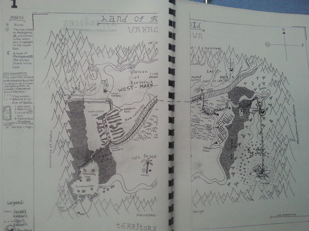 And the map I invented for my phantasy comic world...