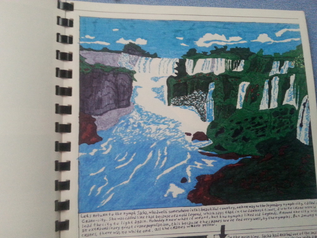 See the resemblance with its model: Victoria Falls...