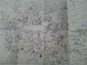 Map of Tin tins world...