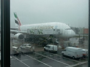 The Emirates plane...