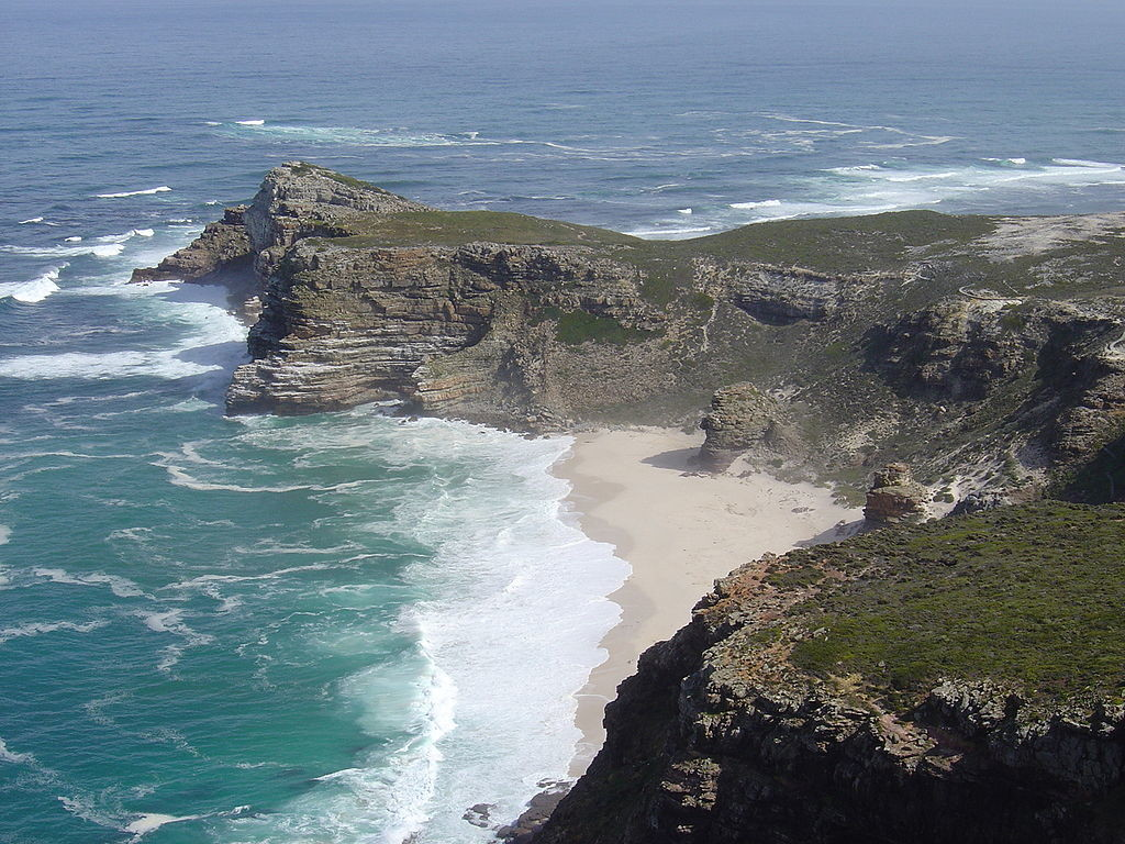 """Cape of Good Hope (Zaian 2008)"" by Zaian (talk) at en.wikipedia - Made by Zaian at en.wikipedia. Transferred from en.wikipedia. Licensed under Public Domain via Commons - https://commons.wikimedia.org/wiki/File:Cape_of_Good_Hope_(Zaian_2008).JPG#/media/File:Cape_of_Good_Hope_(Zaian_2008).JPG"