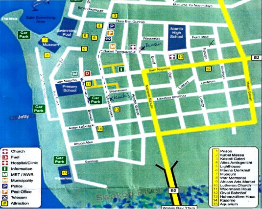 MapSwakopmund