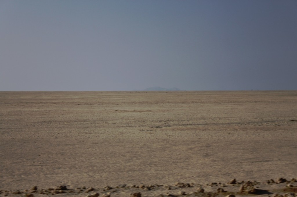 Empty plain of the Namib desert...