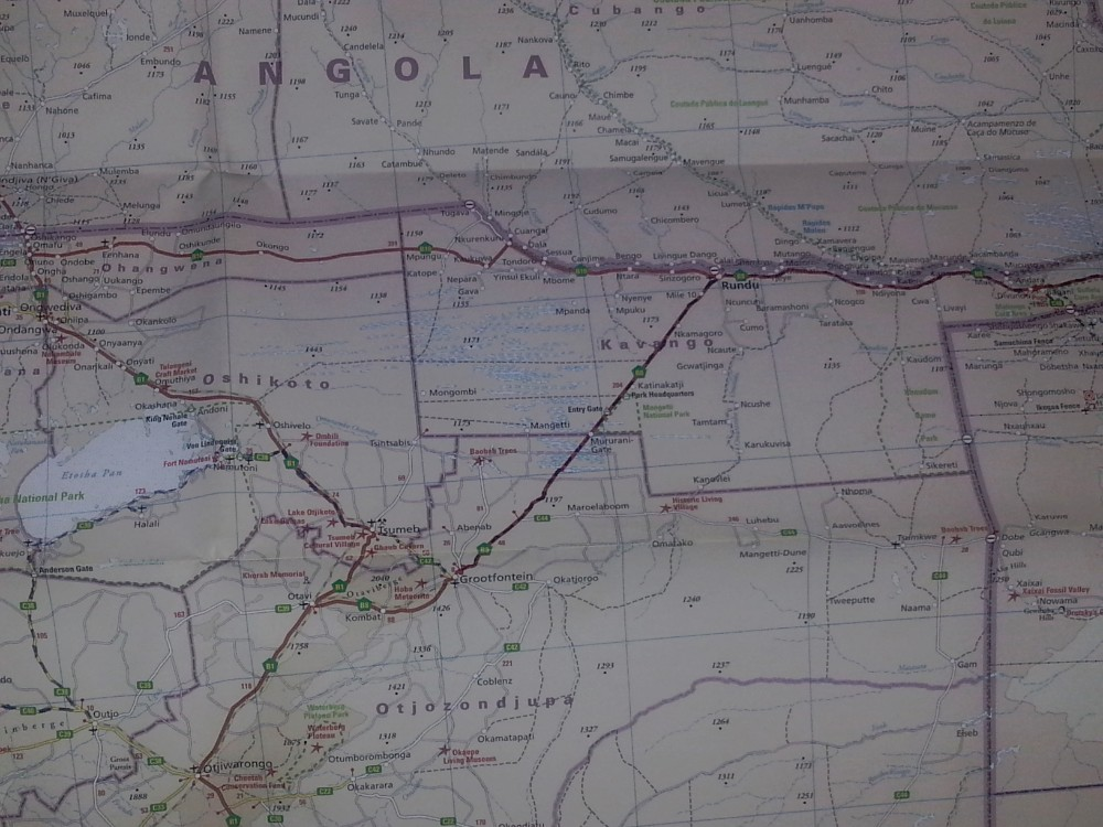 The longest drive of all in one single day was from Etosha NP to Bagani in the Caprivistrip...